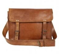 Купить Brown Leather Messenger Bag for Men Women за $40 вместо $49 на Amazon.com